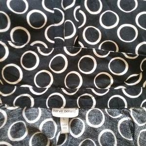 Harve Benard Tops - Black and White Long Sleeves Harve benard Shirt